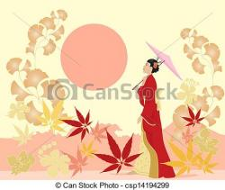 Japanese Garden clipart drawing