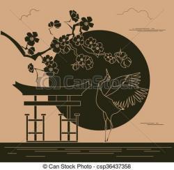 Japanese Garden clipart japanese building