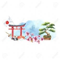 Japanese Garden clipart japanese family