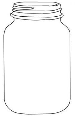 Drawn mason jar black and white