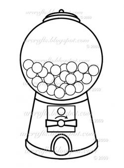 Gumball clipart bubble gum machine