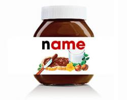 Drawn nutella label