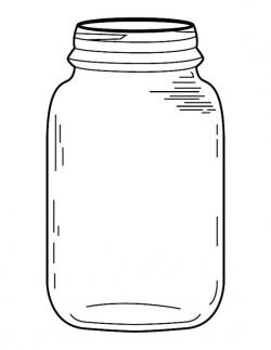 Jar clipart coloring page