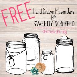 Drawn mason jar clip art