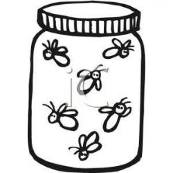 Firefly clipart black and white