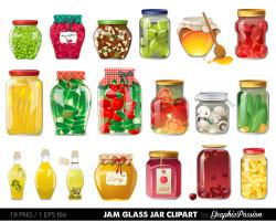 Mason Jar clipart honey jar