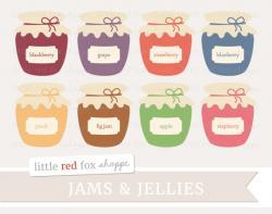 Jellies clipart blackberry jam