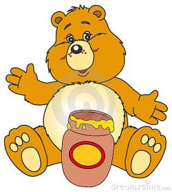 Jar clipart honey bear