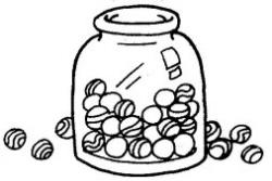 Marbles clipart drawing