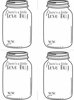 Jar clipart love bug