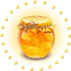 Jar clipart orange juice