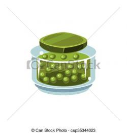 Jar clipart pea