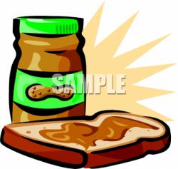 Peanut Butter clipart bread clipart
