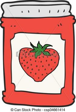 Jellie clipart strawberry jam