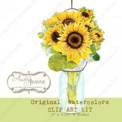 Moves clipart sunflower bouquet