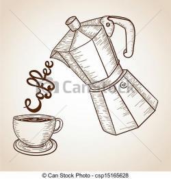 Jar clipart vintage coffee