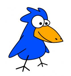 Bluebird clipart funny bird