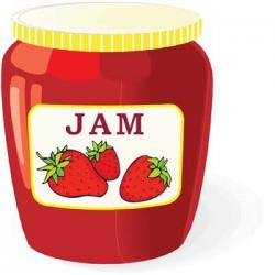 Jar clipart strawberry jelly