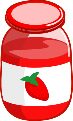 Jar clipart strawberry jam