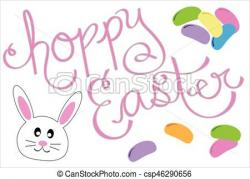 Jelly Beans clipart easter bunny