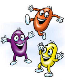 Jelly Bean clipart happy