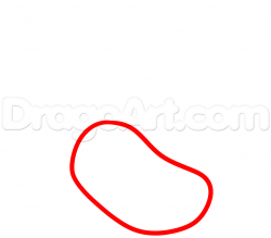Drawn jellies line drawing