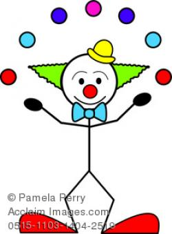 Clown clipart funny person