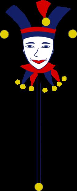 Jester clipart stick