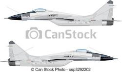 Jet Fighter clipart drawn