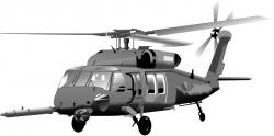 Drawn helicopter military aircraft