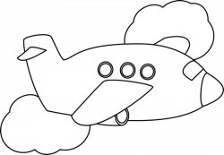 Clouds clipart plane