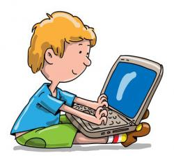 Notebook clipart laptop kid