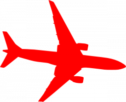 Jet clipart red plane