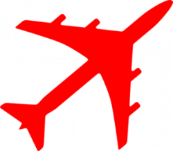 Red clipart aeroplane