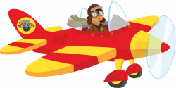 Pilot clipart old airplane