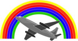 Vacation clipart airplane flying