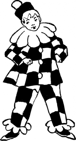 Joker clipart black and white