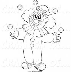 Clown clipart outline