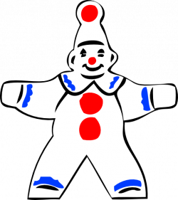 Clown clipart simple