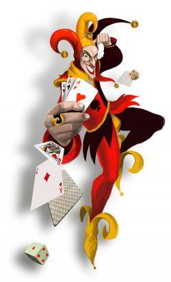 Jester clipart joker card