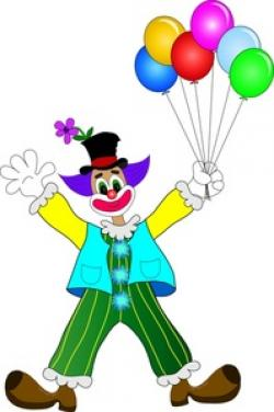 Clown clipart balloon clipart