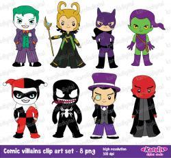 Comics clipart superhero villain