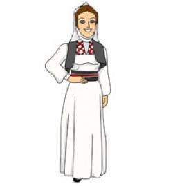 Traditional Costume clipart israel