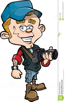 Journalist clipart cartoon