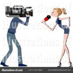 Journalist clipart news anchor