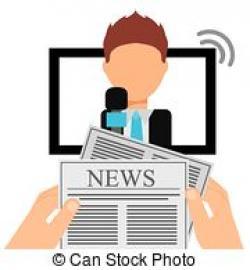 Journalist clipart news presenter
