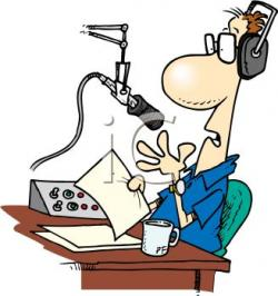 Journalist clipart radio announcer