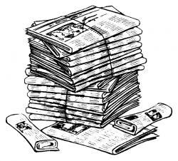 Journalist clipart stack newspaper