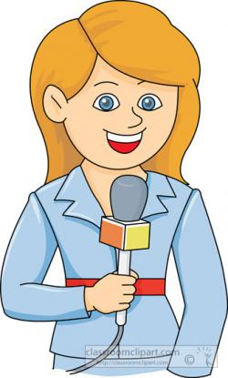 Journalist clipart tv reporter