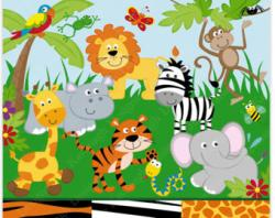 Number clipart jungle